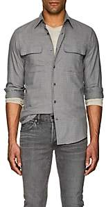 Ralph Lauren Purple Label Men's Checked Cotton Shirt - Gray
