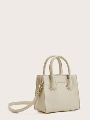 Shein Minimalist Satchel Bag With Double Handle