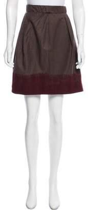 Brunello Cucinelli GUNEX x Wool-Cashmere Knee-Length Skirt