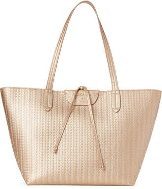 Patrizia Pepe Gold Metallic Textured Tote