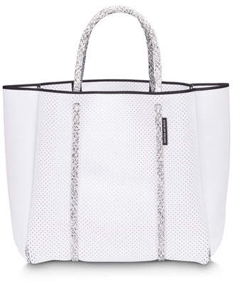 State of Escape Cityscape Mark II Perforated Tote Bag, White