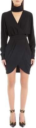 Versace Faux Wrap Dress