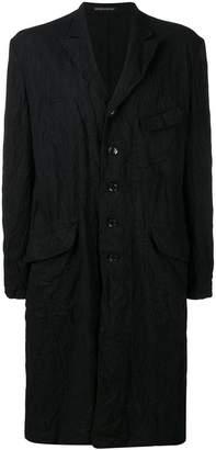 Yohji Yamamoto shirt-style midi coat