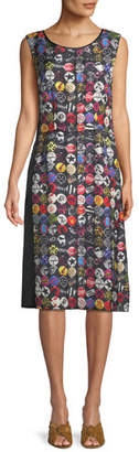 Marc Jacobs Sleeveless A-Line Badges-Print Dress