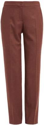 WtR - Dima Brown Elasticated Waist Wool Trousers