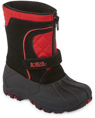totes Boys Jason Winter Boots Water Resistant Strap