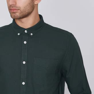 Mens Green long sleeve button-down oxford shirt