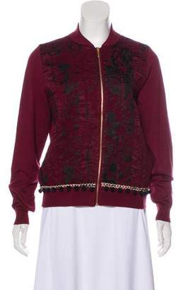 Joseph Embroidered Bomber Jacket w/ Tags