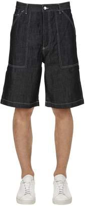 Kenzo Cotton Blend Denim Shorts