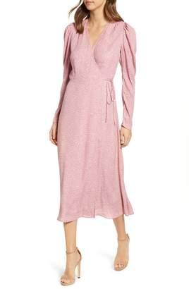 AFRM Caley Wrap Midi Dress
