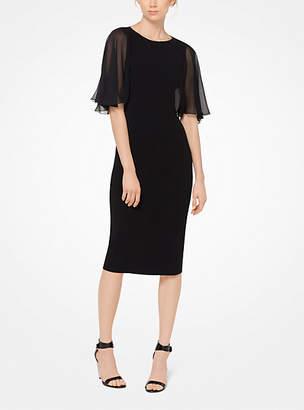 Michael Kors Chiffon And Stretch Wool-Crepe Dress