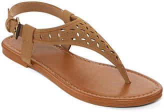 Arizona Womens Seymour Adjustable Strap Flat Sandals