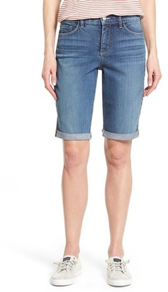 Women's Nydj 'Briella' Roll Cuff Stretch Denim Shorts $69 thestylecure.com