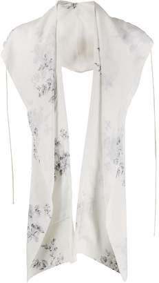 Camiel Fortgens handpainted silk scarf hoodie