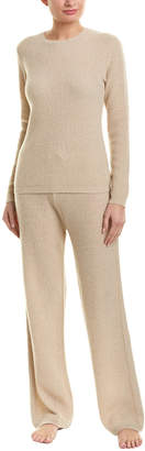 Sofia Cashmere Sofiacashmere 2Pc Thermal Lounge Cashmere Pajama Set