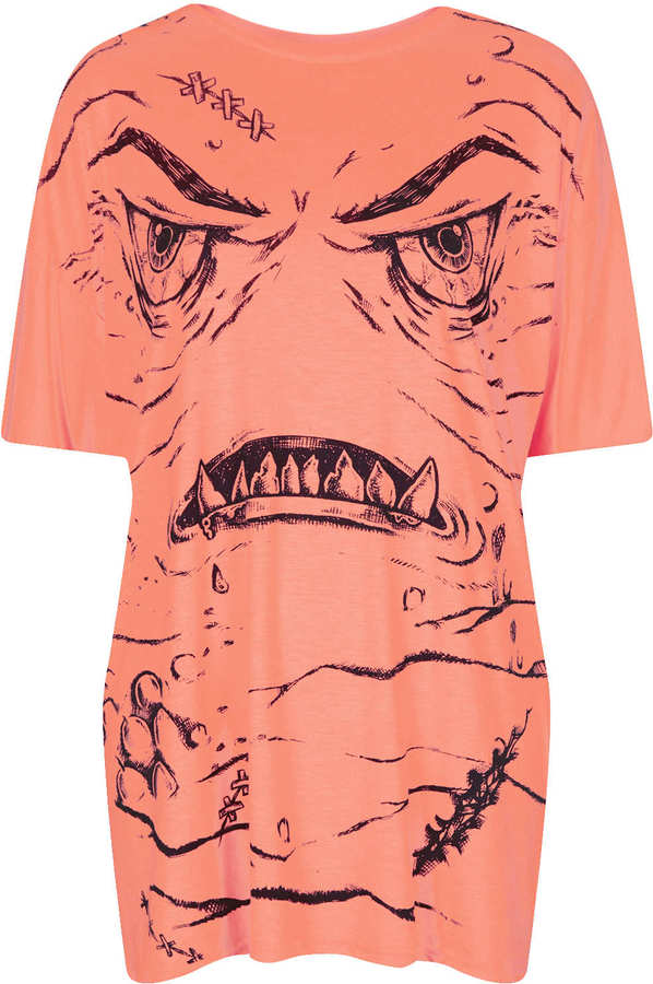 Topshop Fluro Monster Tee