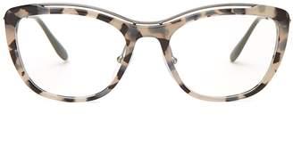 Prada Acetate cat-eye tortoiseshell optical glasses