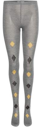 Prada Printed knitted wool tights