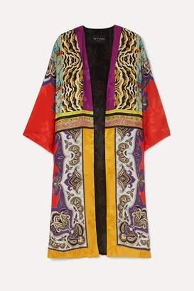 Etro Printed Silk-jacquard Jacket - Red