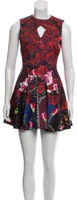 Piccione Piccione Piccione.Piccione Floral Print A-Line Dress Black Piccione.Piccione Floral Print A-Line Dress