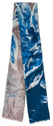 Loro Piana Reversible Floral Cashmere Scarf