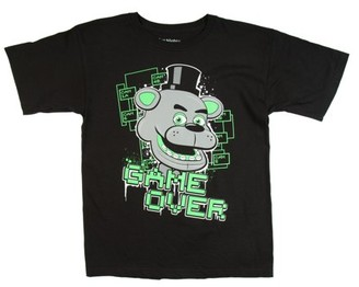 Five Nights At Freddy's Five Nights at Freddy's Glow in the Dark Game Over Black Cotton T-Shirt (Little Boys & Big Boys)