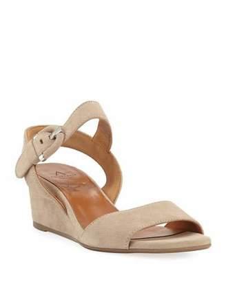 Aquatalia Kylee Demi-Wedge Suede Sandals