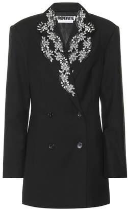 Rotate by Birger Christensen Wool-blend blazer dress