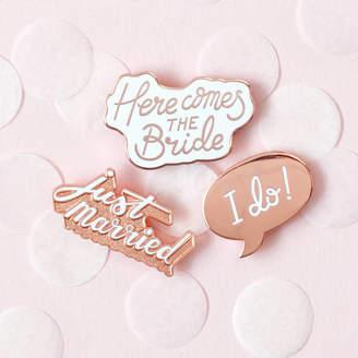 Alphabet Bags Wedding Enamel Pin Set
