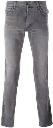 Balmain side ribbed detail jeans