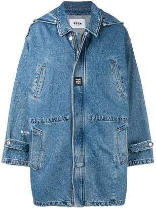 MSGM oversized denim coat