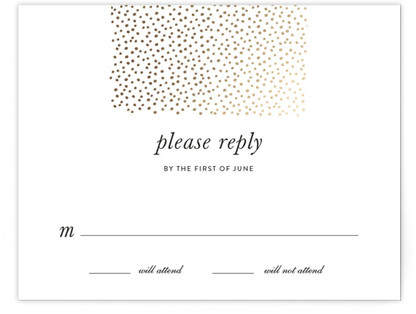 Delicate Dots Foil-Pressed RSVP Cards