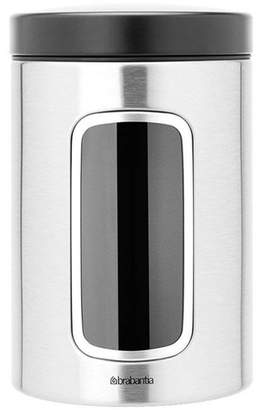 Brabantia 1.4L Brushed Stainless Steel Window Canister