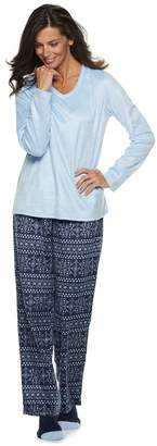 Croft & Barrow Petite Minky Fleece 3-piece Pajama Set