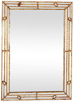 One Kings Lane Vintage Midcentury Faux-Bamboo Giltwood Mirror - Debra Hall Lifestyle