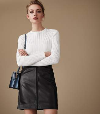 Reiss Maisie Leather Pencil Skirt