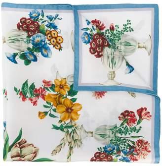 Dolce & Gabbana floral bouquet print scarf