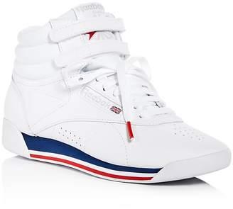 Reebok Women's Freestyle Retro Leather High Top Sneakers