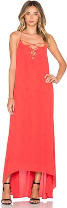 Line & Dot Bastille Lace Up Dress $149 thestylecure.com