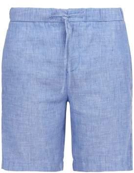 Frescobol Carioca Linen Blend Shorts - Mens - Blue