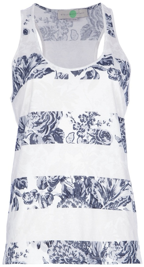 Stella McCartney floral stripe vest top