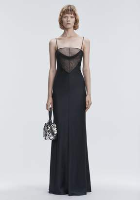 Alexander Wang SATIN BEADED GOWN Long Dress
