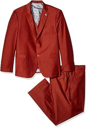 Stacy Adams Men's Big and Tall Bud Big & Tall Vested Slim Fit Suit