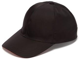 Prada Logo Applique Nylon Cap - Mens - Black Orange
