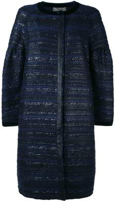 Alberta Ferretti tweed coat