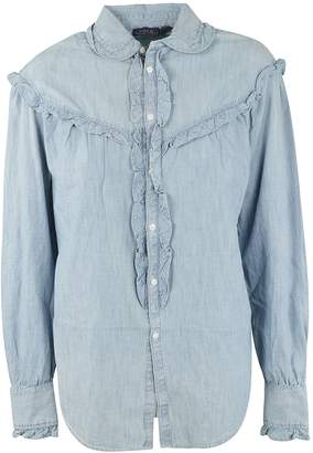 Ralph Lauren Ruffled Denim Shirt