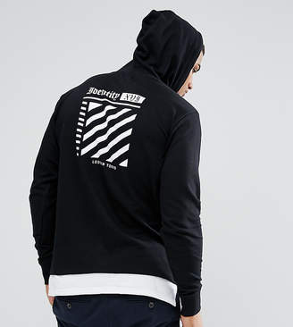 Jacamo TALL Hoodie With Print In Black And White