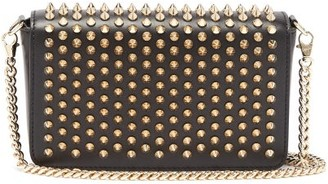 Christian Louboutin Zoomi Studded Leather Clutch - Womens - Black Gold
