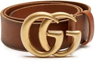 GG-logo 4cm leather belt