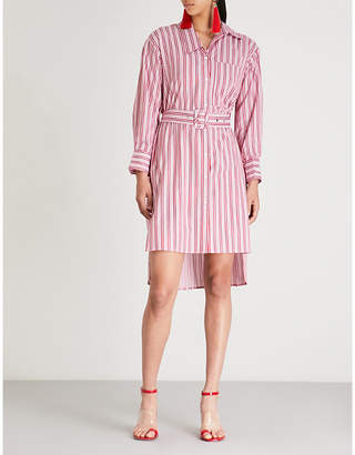 Mo&Co. Striped cotton shirt dress